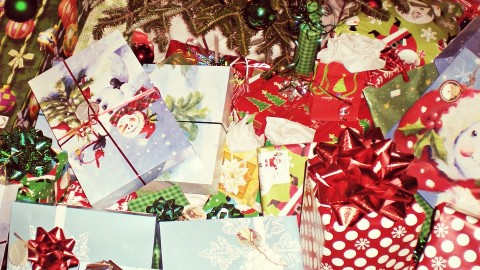 Never trash your gift wrap or Christmas Trees..Recycle them!