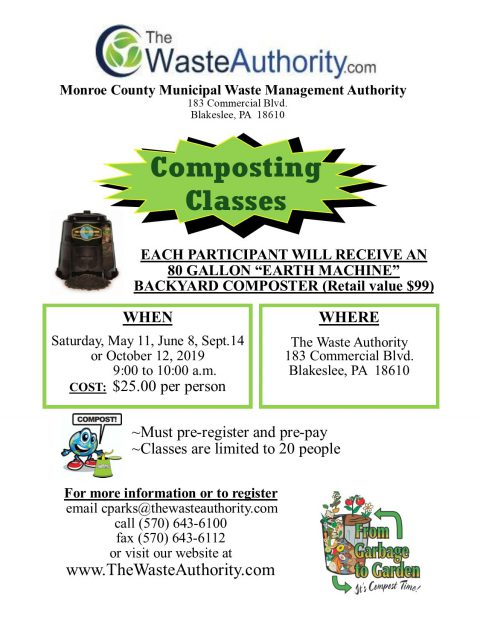 Register for composting classes TODAY!