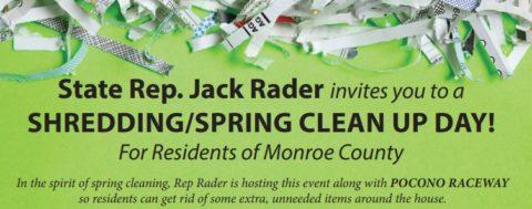 Jack Rader's Shredding/Spring Cleanup Day