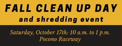 Oct. 17th: Fall Clean Up/Shredding Day
